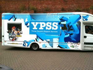 Edge design graphics for a range of Youth Service Buses