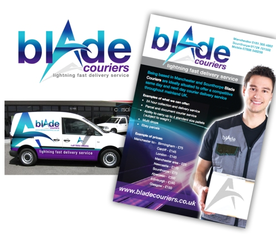 Blade Couriers are based in Manchester and Scunthorpe and are ideally based for door to door same day and next day courier service 24 hours a day around the UK