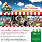 Delduca Ice Creams Website - Design & Build by Edge Interactive Ltd.