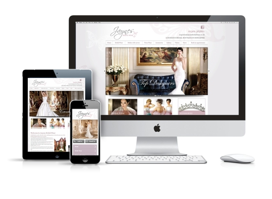 Website design for bridal houses